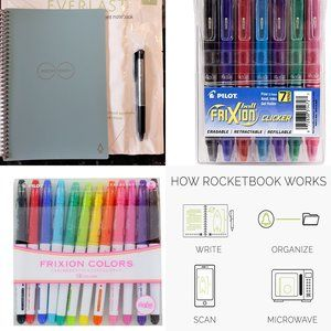 Rocketbook Everlast Execitive and 2 sets color pen